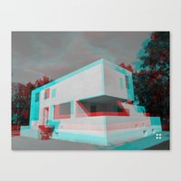 bauhaus Canvas Prints featuring Bauhaus · Das Bauhaus 3 by Marko Köppe