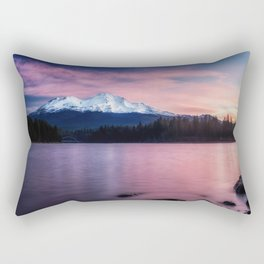 Sublime a sunrise at Lake Siskiyou with Mt. Shasta Rectangular Pillow