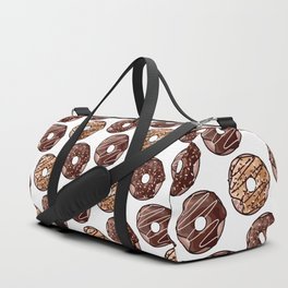 Chocolate Donuts Pattern Duffle Bag