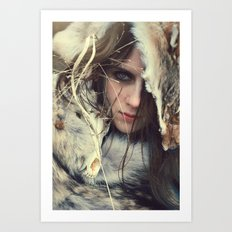 Coyote Girl Art Print
