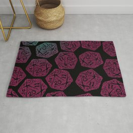 d20 dice pattern - darker gradient pastel - icosahedron Rug