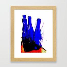 Blue Bottles Framed Art Print