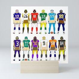 Football Butts Mini Art Print