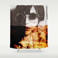 shining Shower Curtains featuring Shining by Lama BOO