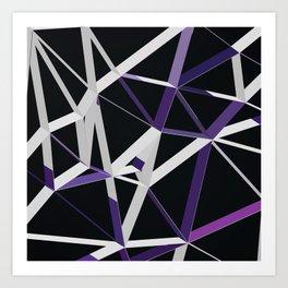 3D Futuristic GEO Lines XIII Art Print