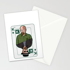 Breaking Bad: Walter White vs Heisenberg on a poker card Stationery Cards