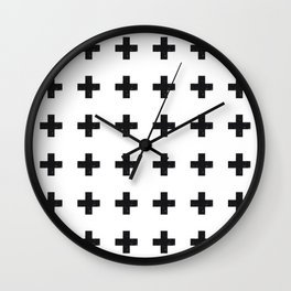 Swiss Cross Wall Clock