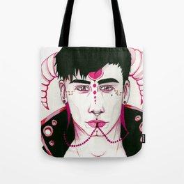 Pastel Goth Fantasy Demon Tote Bag