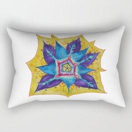 Star Mandala Hand Painet Energy Rectangular Pillow