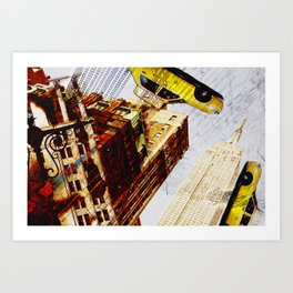 Empire State building - not so tall Art Print