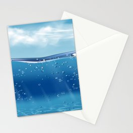 Afternoon swim - paradise series -III- Stationery Cards