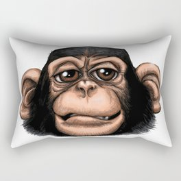 Cheeky baby chimp in colour. Rectangular Pillow
