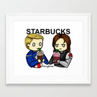 stucky Framed Art Prints featuring Stucky by ShockingBlankets