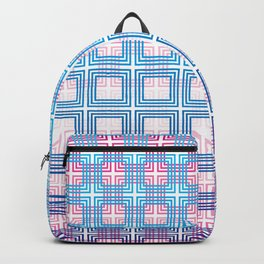 Overlapping squares Backpack