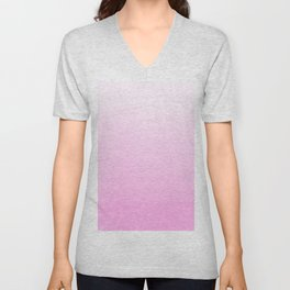 Modern blush pink ombre watercolor brushstrokes Unisex V-Neck