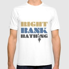 Right bank bathing White MEDIUM Mens Fitted Tee