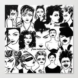 M faces Canvas Print
