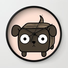 Pitbull Loaf- Brindle Pit Bull with Floppy Ears Wall Clock