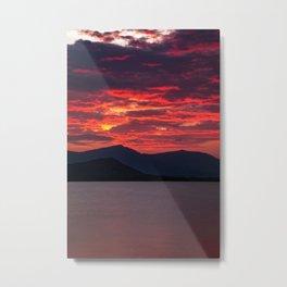 Sea Sunset Metal Print