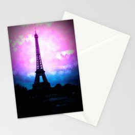 Paris Eiffel Tower Pink & Blue Stationery Cards