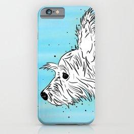 Chorkie Dog Profile iPhone Case