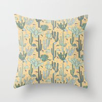 guns Throw Pillows featuring Succulent Guns by LaPenche