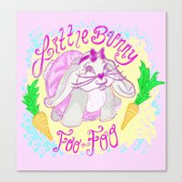 foo fighters Canvas Prints featuring Little Bunny Foo-Foo by Lauren Campbell Creations