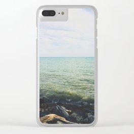 Lake horizon Clear iPhone Case