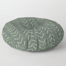 Mudcloth Big Arrows in Leaf Green Floor Pillow