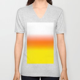 White Orange and Yellow Halloween Candy Corn Unisex V-Neck