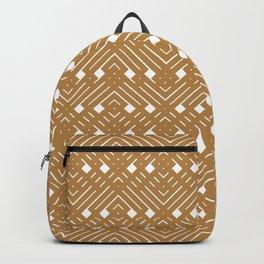 Golden Boho Dashes Backpack
