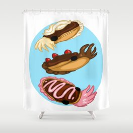 Eclair Cuttlefish Shower Curtain