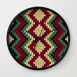Seamless Zigzag Knitting Pattern Wall Clock