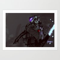 firefly Art Prints featuring Firefly by Benedick Bana