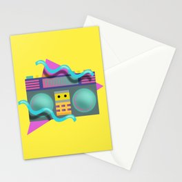 Retro Eighties Boom Box Graphic Stationery Cards