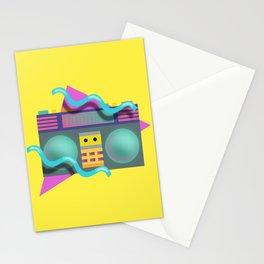 Retro Eighties Boom Box Graphic Stationery Cards