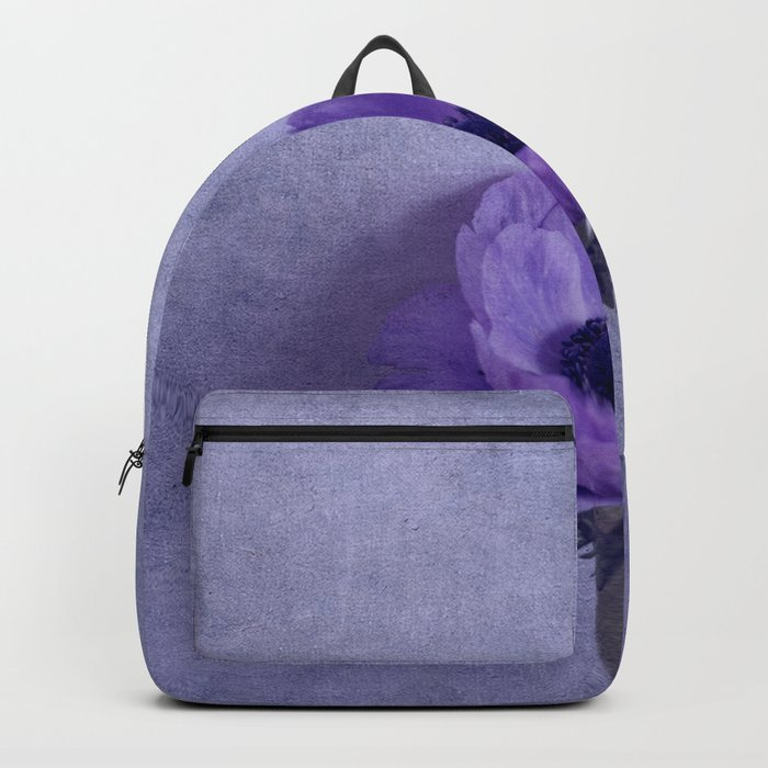 Purple Wave - Lavender and Purple Flower Fine Art Photography, Romantic Backpack