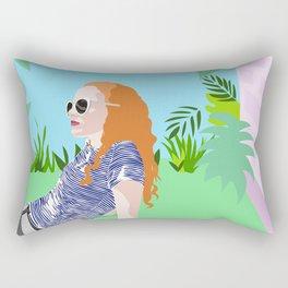 Eleanor in the garden Rectangular Pillow