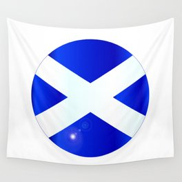 Scotish Flag Button Wall Tapestry
