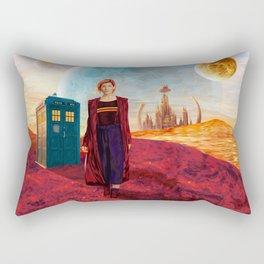 13th Doctor at Gallifrey Planet Rectangular Pillow