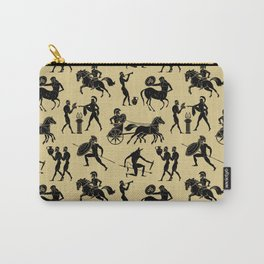 Greek Figures // Tan Carry-All Pouch