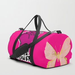 Girl Power Butterflies Duffle Bag