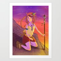 les mis Art Prints featuring Mis thief by Yallow