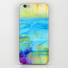 Mermaid Tears Watercolor Fantasy iPhone Skin