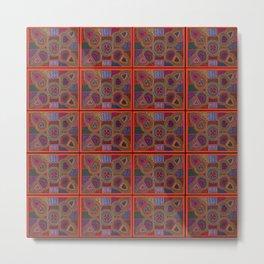 Kuna Mola Pattern Metal Print