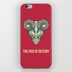 the pick of destiny iPhone Skin