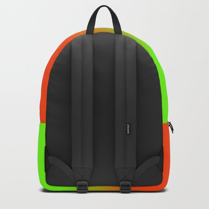 Neon Green and Neon Orange Ombré  Shade Color Fade Rucksack