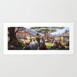 Centaur's Art school Art Print