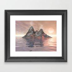 Volcano Island Framed Art Print
