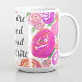 You Are Loved Beyond Measure Purple and Fucshia Roses Coffee Mug